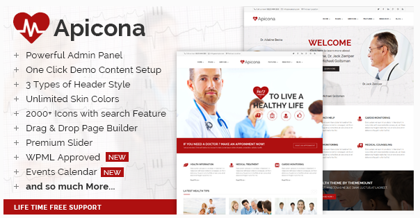 apicona medical website theme