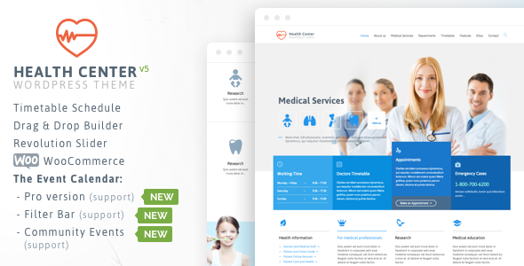 hospital website design template