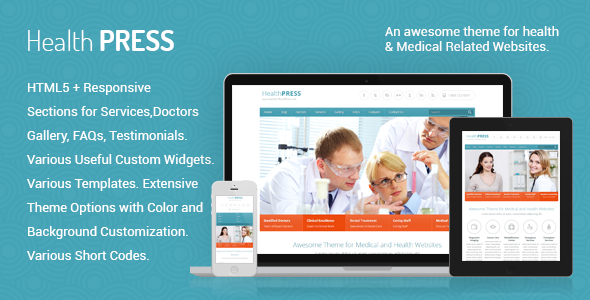 healthpress WP template