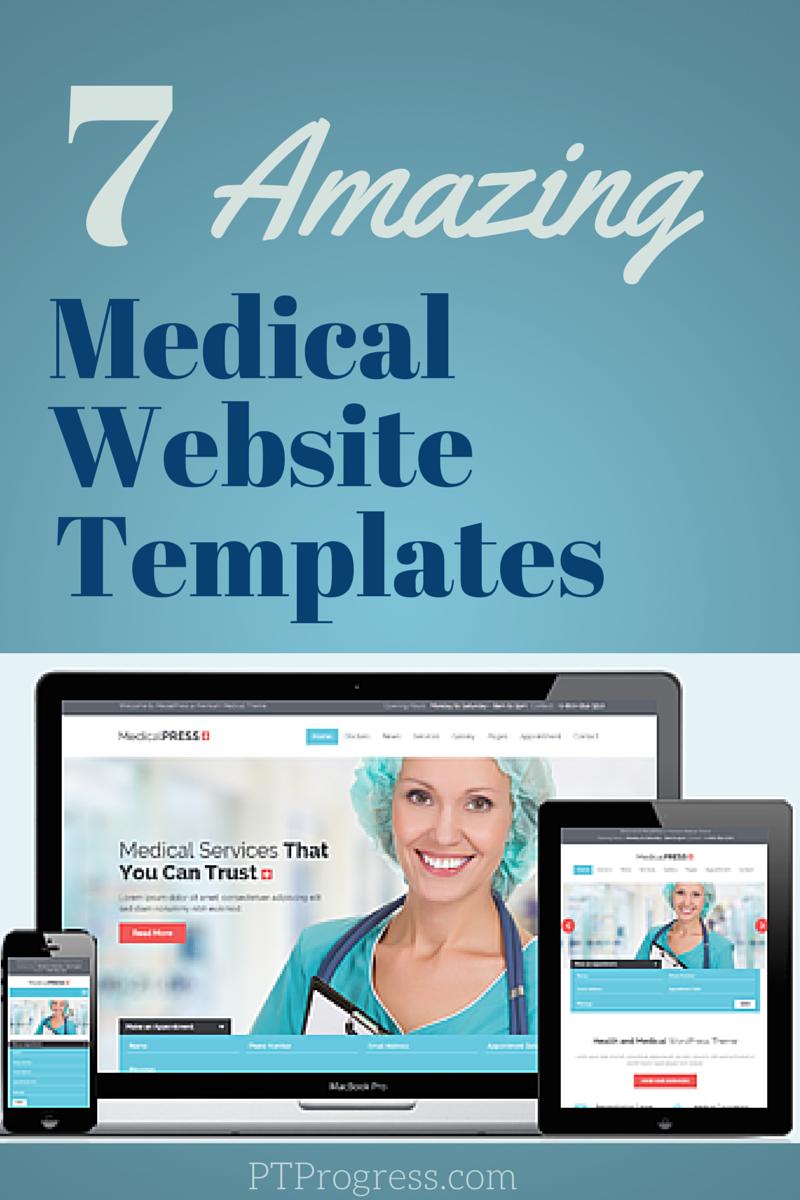 medical website design templates