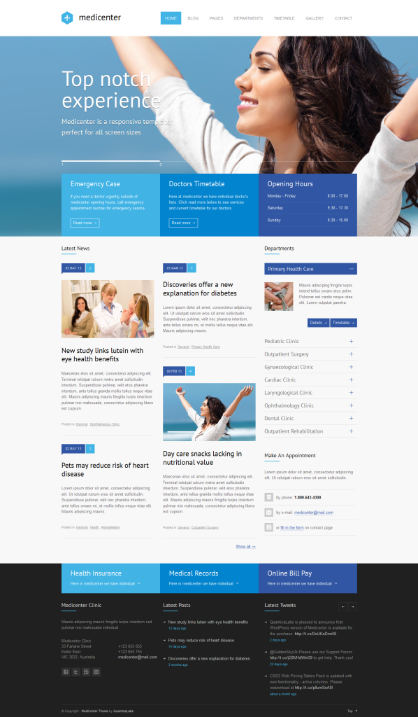 Best Medical Website Design Templates