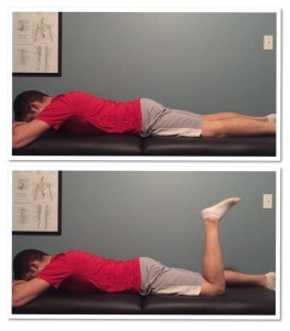 prone knee flexion