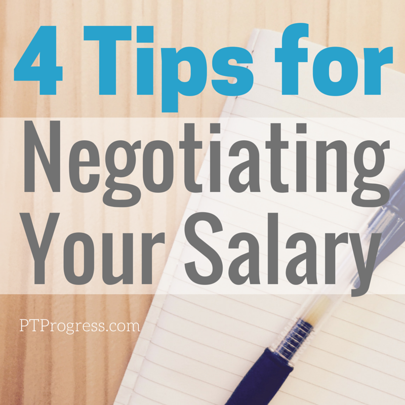 negotiating a salary