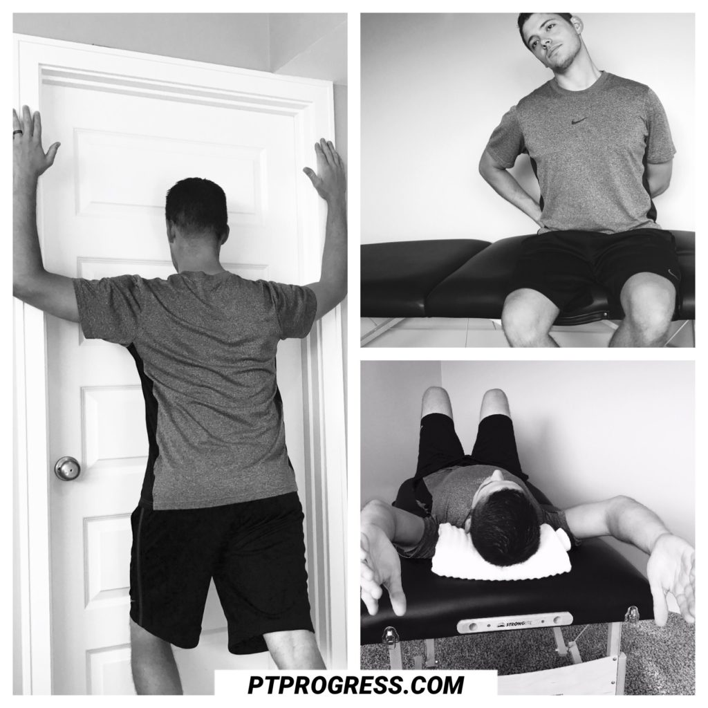 shoulder pain and neck stretches