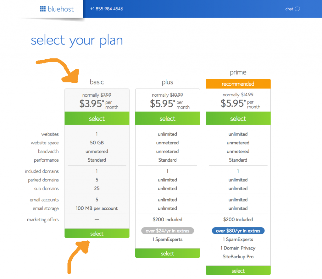 Bluehost Discount Plans