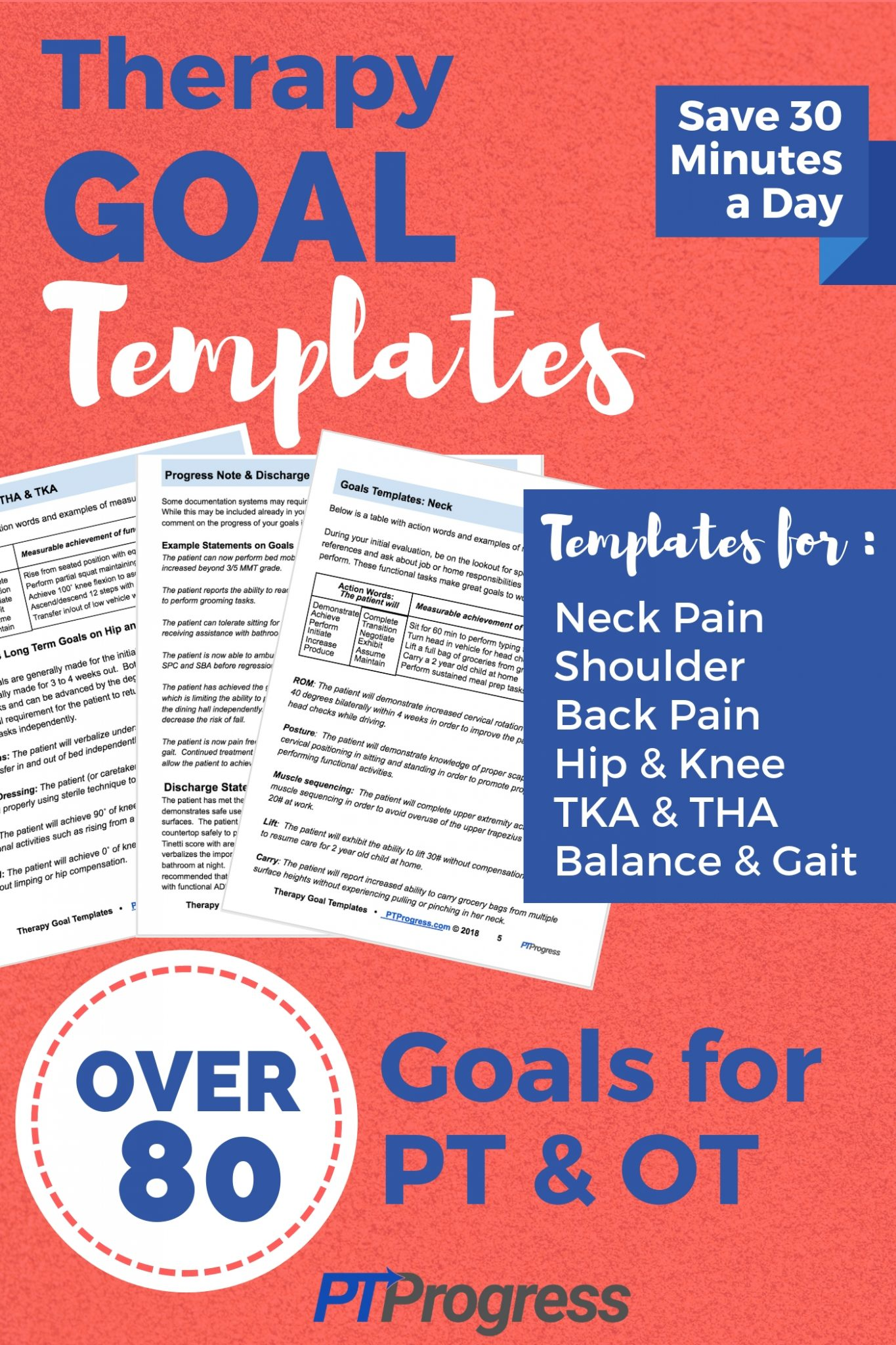 Physical Therapy And Occupational Therapy Goal Templates