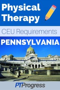 Pennsylvania Physical Therapy Continuing Education Requirements