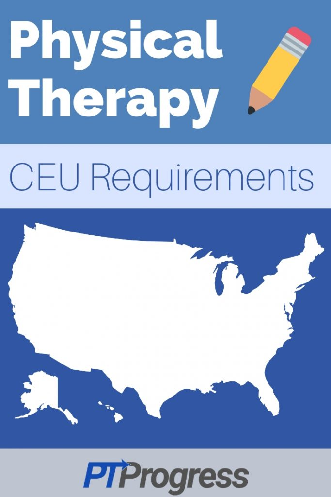 physical therapy CEU requirement by state