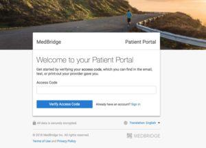 medbridge go access code page