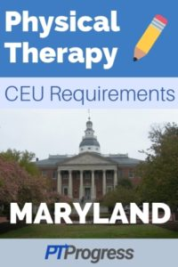 Maryland Physical Therapy Continuing Education Requirements