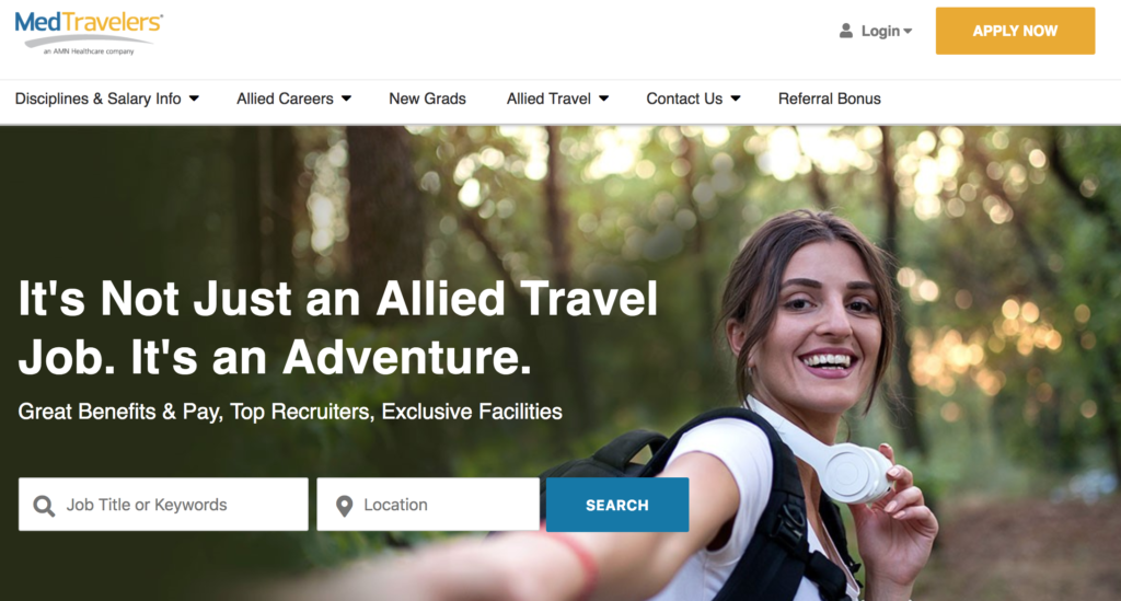 medtravelers travel physical therapy company
