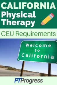 California Physical Therapy Continuing Education Requirements
