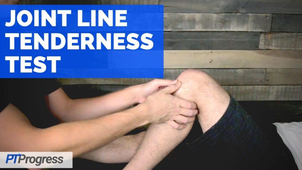 joint line tenderness test