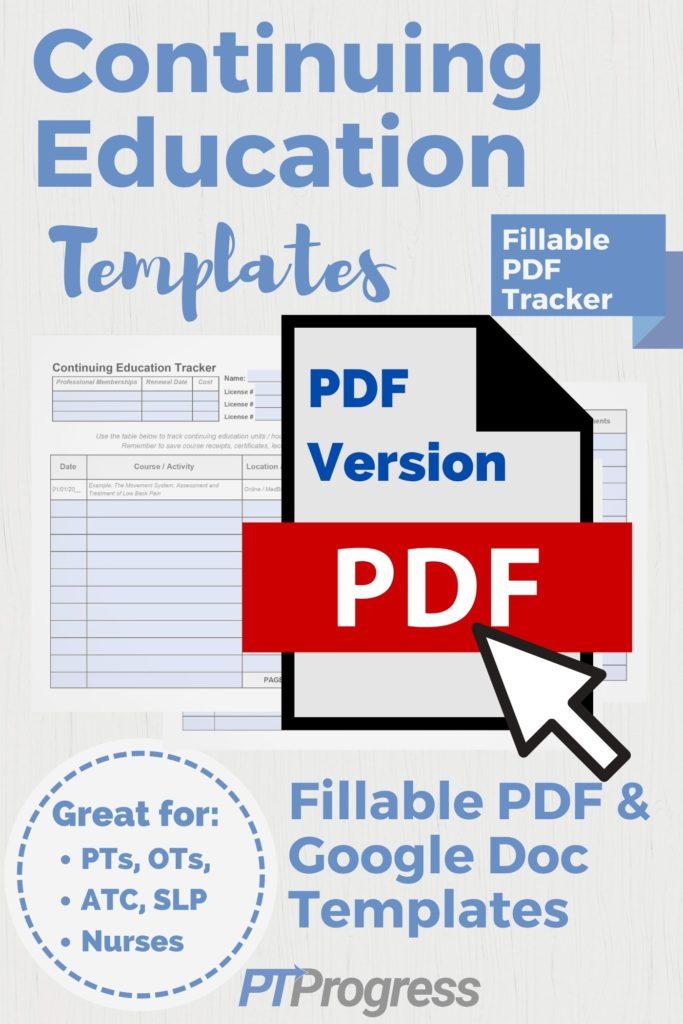 CEU Tracker PDF