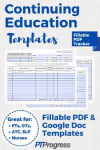 CEU Tracker: A Fillable Template to Track Continuing Education