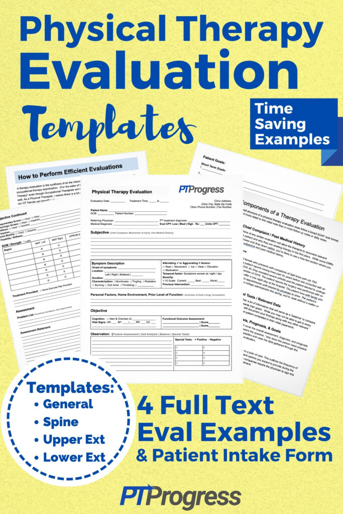 physical therapy evaluation templates