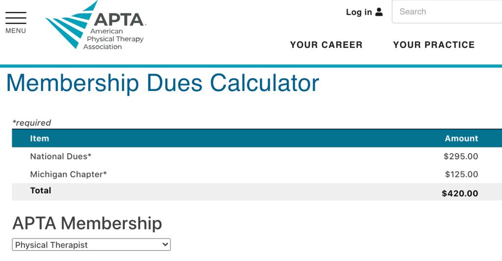 apta membership cost