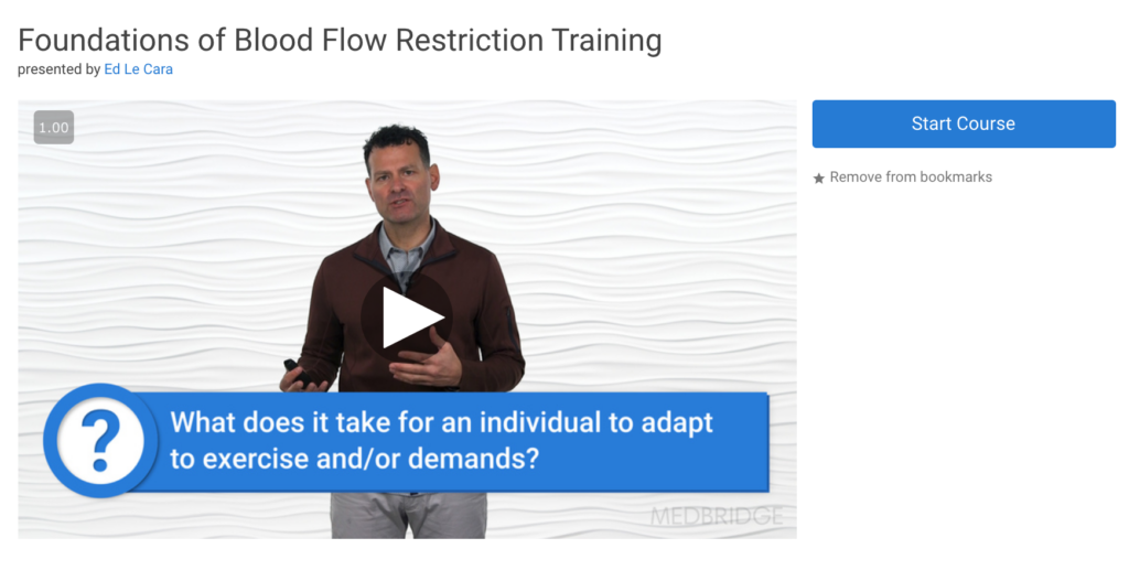 blood flow restriction course