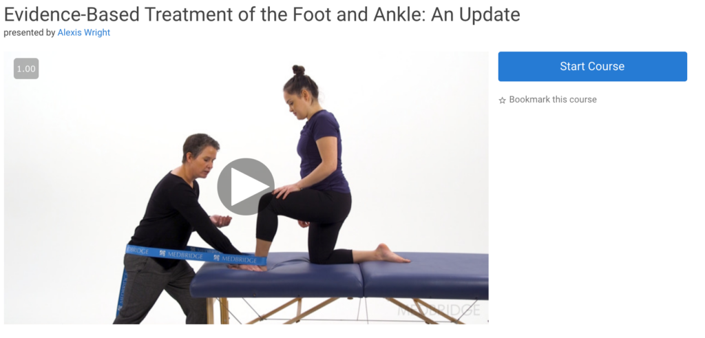 medbridge ankle course