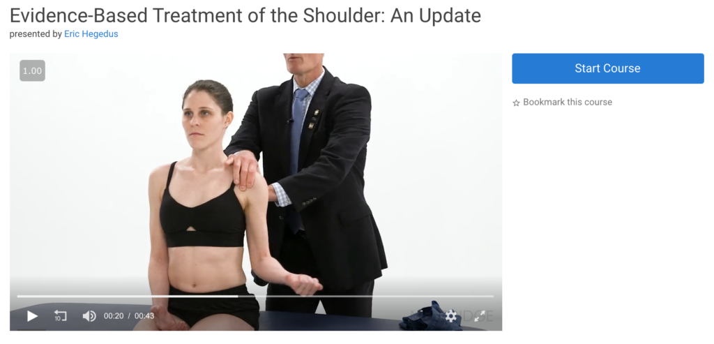 medbridge shoulder course