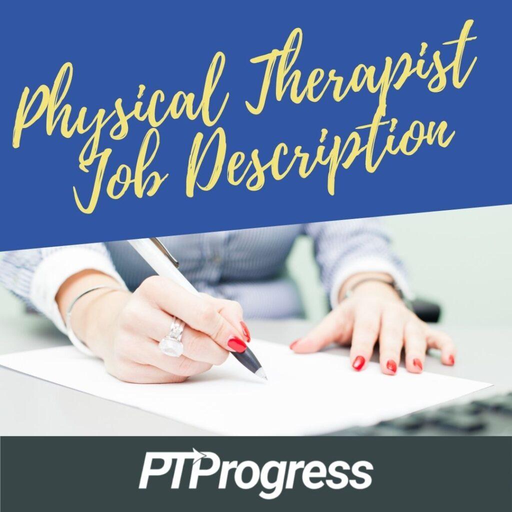 physical therapy job description