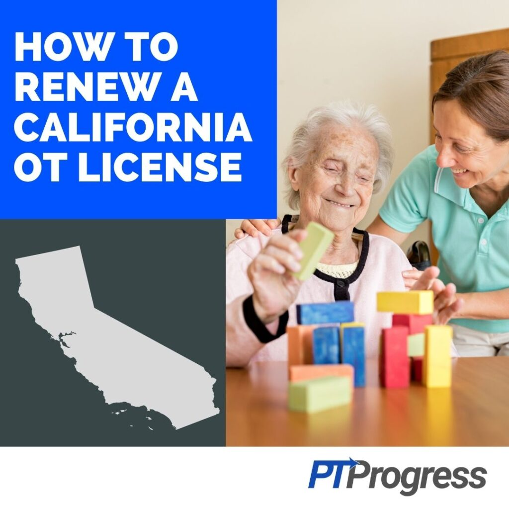 California Occupational Therapy License Renewal Requirements