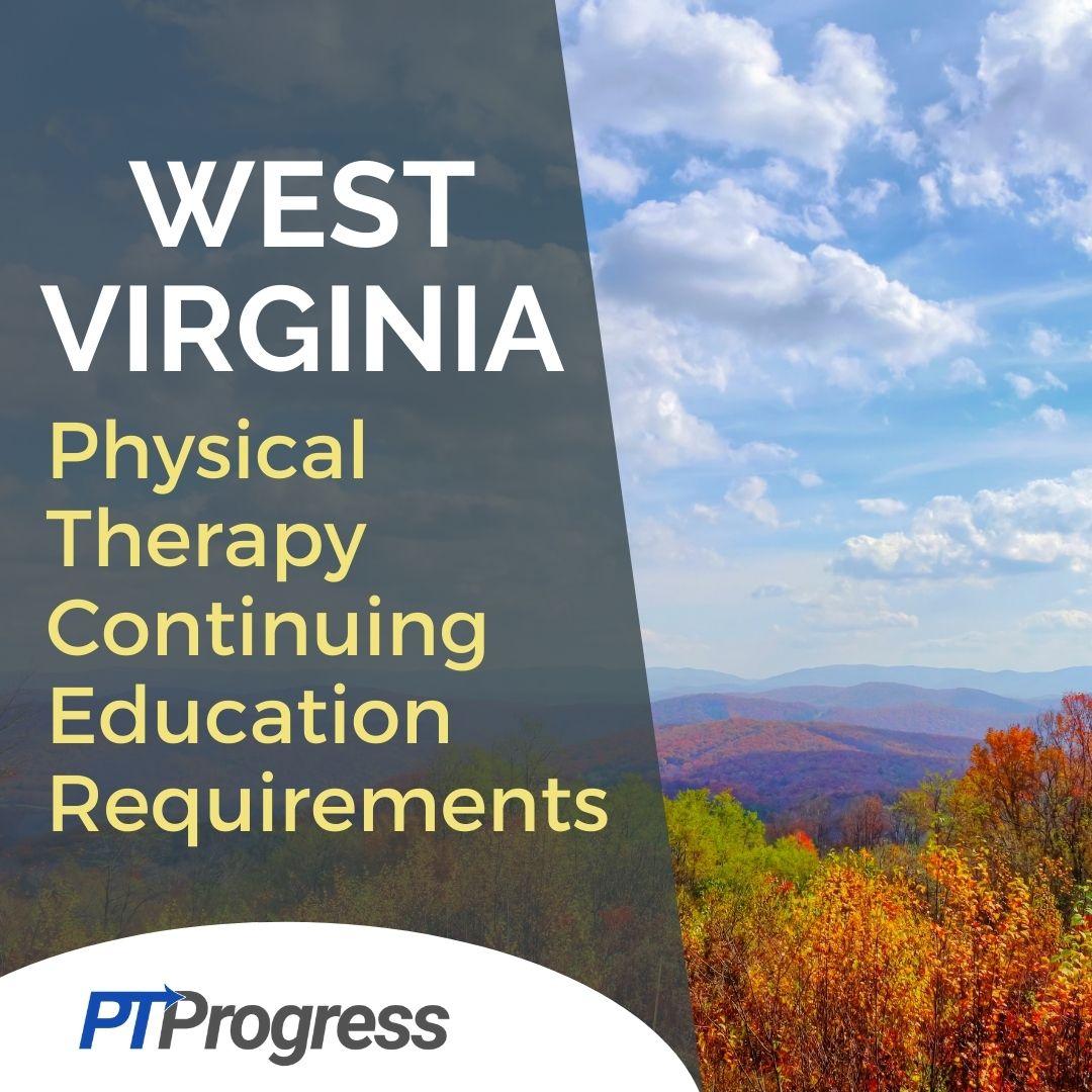 west virginia pt license