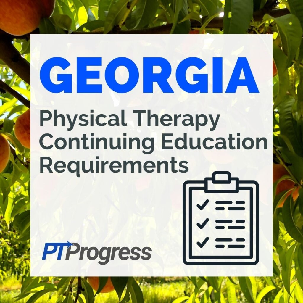 georgia physical therapy license