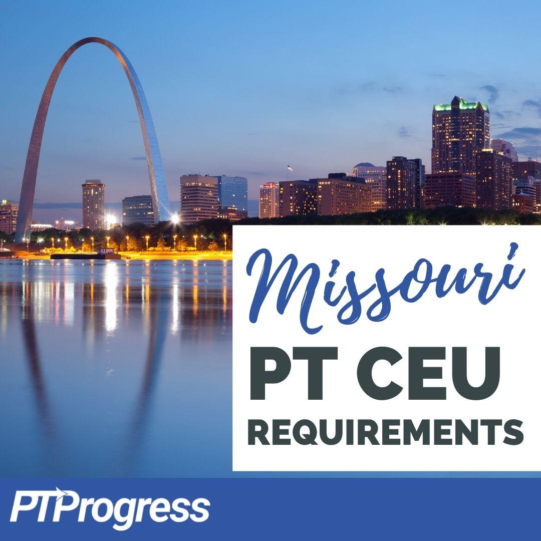missouri PT license renewal